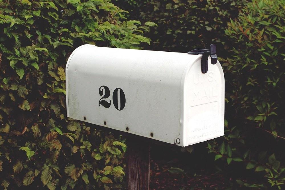 En helt ordinær postkasse